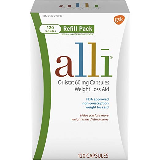 Alli Diet Pills for Weight Loss, Orlistat 60 mg Capsules