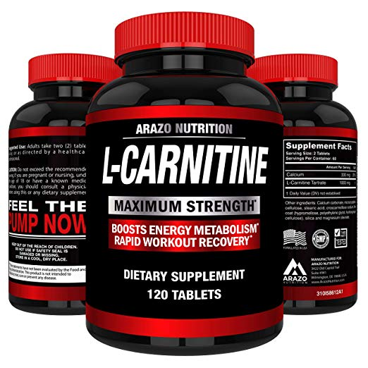 Arazo Nutrition L-Carnitine 1000mg Tablets